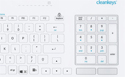 Cleankeys CK5 Wired Keyboard - Integrated Touchpad and Keypad
