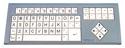Big Keys Keyboard LX (PS/2) - grey housing, white keys