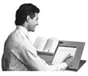 Desktop Slant Board Document Holder and Writing Surface