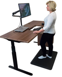 EcoLast TreadTop Standing Mat in use with desk
