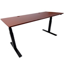 iMovR ELECTRA Height Adjustable Base - Black with Clove Mahogany Top