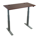 ThermoDesk Upsilon Table Top Shown in Clove Mahogany