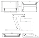 ZipLift Sit-Stand Converter - Dimensions