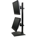 Flat Panel Stand with Pivot and Tilt - side view