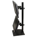 Flat Panel Stand with Pivot and Tilt - side view, same direction