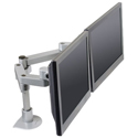 Side By Side Dual LCD Mount - side view, flush