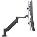 Switch Dual Monitor Bracket Accessory - side view with monitors stacked