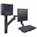 Wall Mounted Workstation with Vertical Mounting Track - different configuration