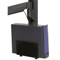 Wall Mounted Workstation with Vertical Mounting Track - CPU mount