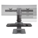 Winston-E Compact Workstation Dual - Monitor Adjustment Range