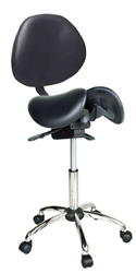 Kanewell Twin Adjustable Saddle Chair with Backrest