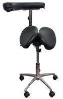 Kanewell Twin Adjustable Saddle Stool with 360° Arm Accessory