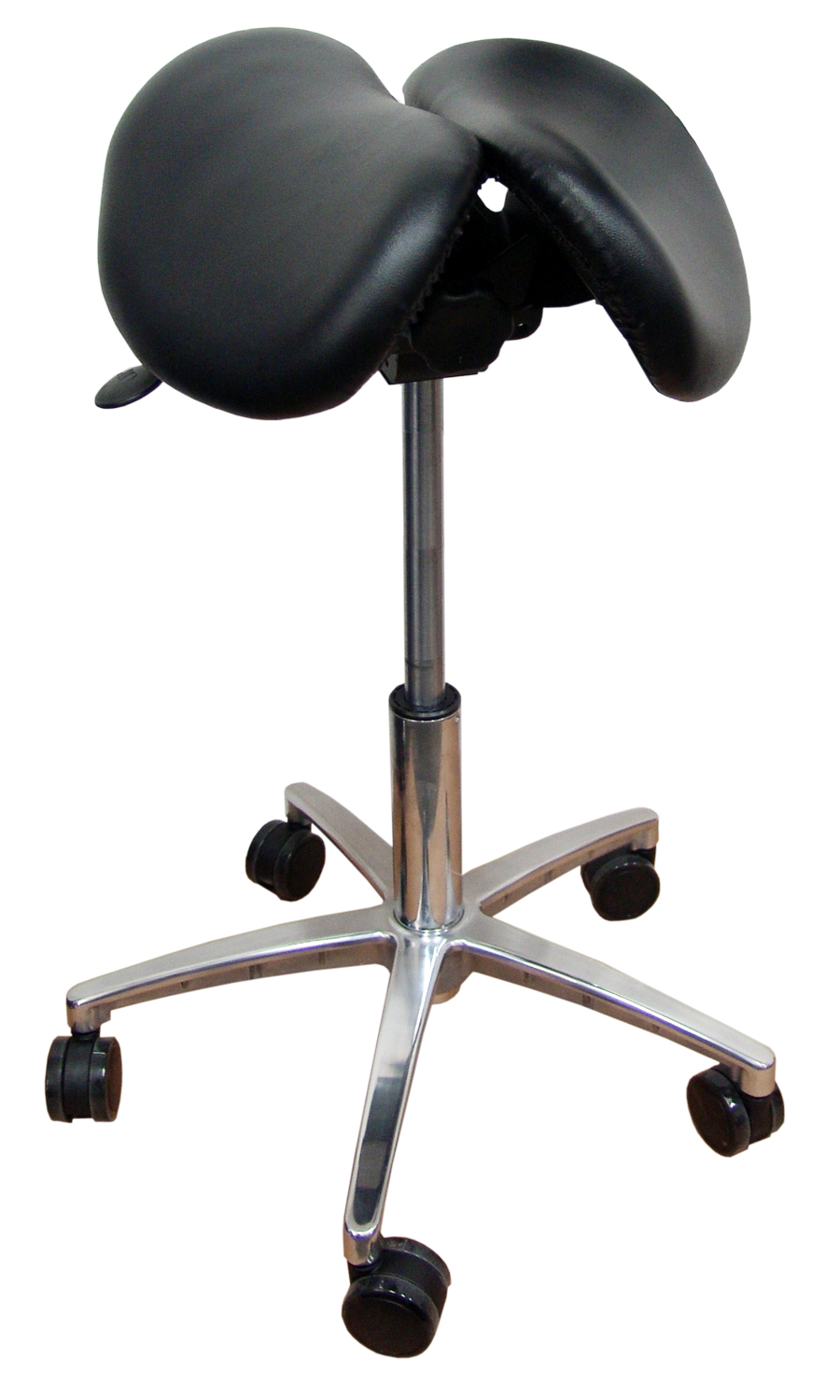 Kanewell Twin Adjustable Saddle Stool In Vinyl By Kanewell Ergocanada Detailed Specification Page