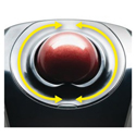 Orbit Wireless Mobile Trackball - Dual Touch Scroll Zones