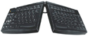 Goldtouch Adjustable Keyboard - front view, black