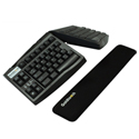 Goldtouch Slimline Gel Wrist Rest with splayed, tented keyboard