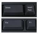 Freestyle Solo double length Delete and Esc keys