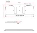 HDPE Keyboard Tray - Specs