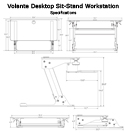 Volante Desktop Sit-Stand Workstation - Specifications Sheet