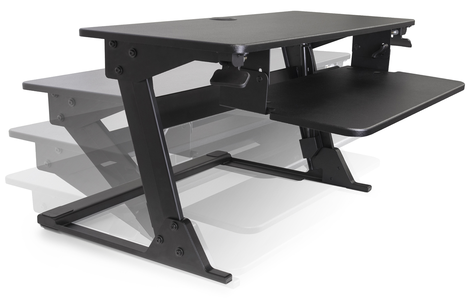 Volante Desktop Sit Stand Workstation By Kv Waterloo