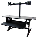 Volante Desktop Sit-Stand Workstation with Monitor Arm - Standing
