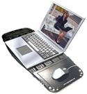 Laptop Desk MouzPad: in use