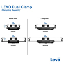 LEVO Dual Clamp Tablet Cradle Supported Size Range