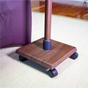 Levo G2 Deluxe Espresso Tablet Stand - Weighted Rolling Base