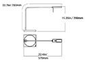 Luxo Ninety Freestanding Task Light - Spec Drawing