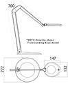 lLuxo OVELO Desk Clamp Task Light - Spec Drawing