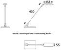 Luxo TEREA Wall Mout Task Light - Spec Drawing