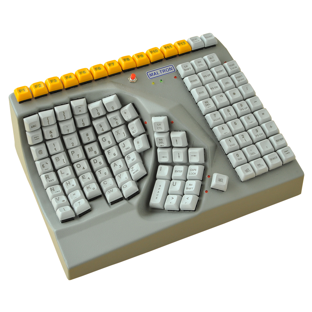 single hand keyboard by maltron keyboards ergocanada detailed specification page. Black Bedroom Furniture Sets. Home Design Ideas