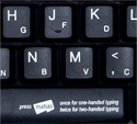 508 Keyboard - dual layered keys