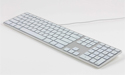 Matias RGB Backlit Wired Aluminum Keyboard - Silver Mac Model
