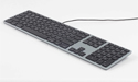 Matias RGB Backlit Wired Aluminum Keyboard - Space Gray Mac Model