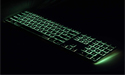 Matias RGB Backlit Wired Aluminum Keyboard - Green Backlighting
