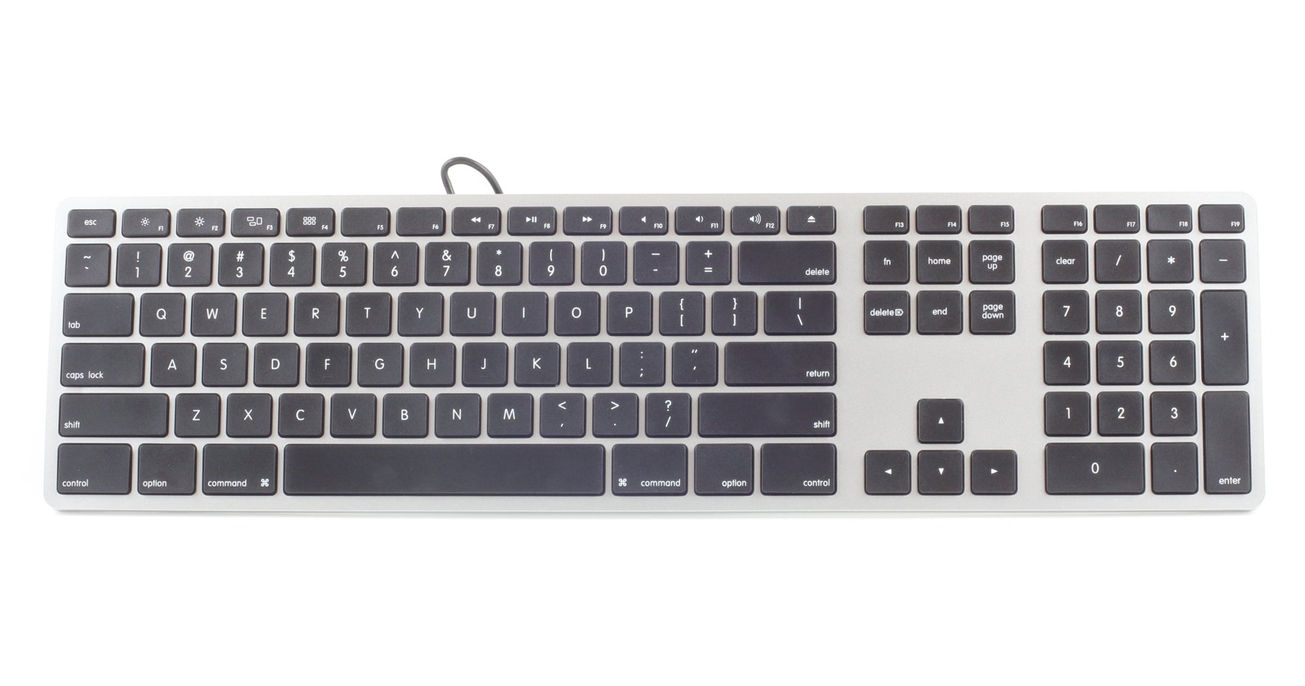 wired keyboard for mac by matias ergocanada detailed specification page. Black Bedroom Furniture Sets. Home Design Ideas
