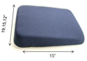 Sacroease Memory Foam Tapered Seat Support - available in 3 widths