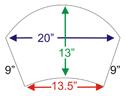 EZ-RYZE ARC Footrest - Foot Platform Dimensions