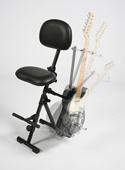 GIGCHR Foldable Sit-Stand Chair with Optional Guitar Stand Accessory