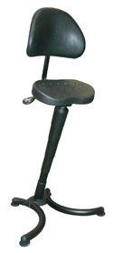 RISON Sit-Stand Leaning Stool with Backrest