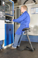 TULEAN Sit-Stand Comfort Leaning Stool in Use