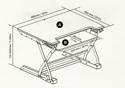 DeskRite 100 Sit-Stand Platform - Dimensions