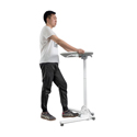 DeskRite Mobile Transportable Height Adjustable Desk - Height Adjustment Foot Release