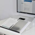 MultiLite Adjustable Document Holder  - Convenient Storage Compartment