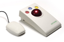 OptimaX Wireless Trackball - OptimaX with receiver unit