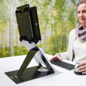 R-Go Riser Duo Tablet and Laptop Stand - Elevated Viewing