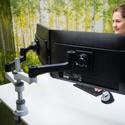 R-Go Zepher 4 C2 Dual Monitor Arm