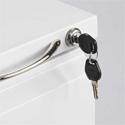 Steel Mini Pedestal - Lock and Keys