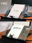 Freestanding Adjustable InLine Document Holder - Size Comparison